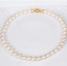 11-12mm天然白色珍珠圆珠项链