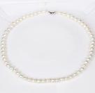 6-7mm白色珍珠圆珠项链