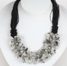 黑发晶碎石项链