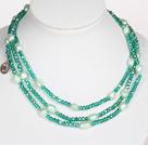 绿色水晶巴洛克珍珠长款项链