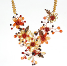 珍珠水晶贝壳玛瑙项链
