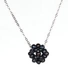 黑珍珠球吊坠项链