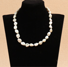 白色再生珍珠项链