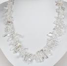 天然白珍珠水晶项链