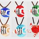 热带鱼香水瓶琉璃项链 6条一组 颜色随机