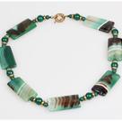 条纹绿玛瑙项链