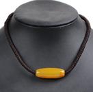 黄玉玛瑙项链