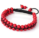 红珊瑚手工编织手链