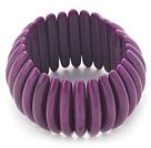 紫色松石弹力手链 手排款