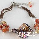水晶玛瑙琉璃手链