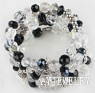 黑白色水晶手环