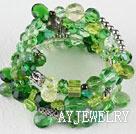 绿色水晶手环