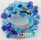蓝色水晶手环