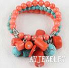 珊瑚松石弹力手链