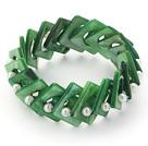 绿色贝壳弹力手链
