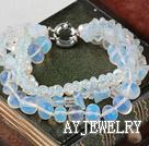 珍珠水晶蛋白石手链