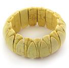 黄色松石弹力手环
