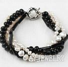 珍珠黑玛瑙手链