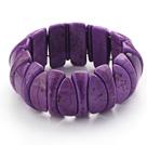 紫色松石弹力手环