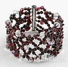 石榴石水晶手环