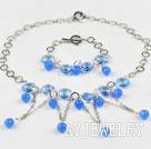 蓝色水晶套链