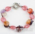 紫水晶玛瑙西瓜水晶手链