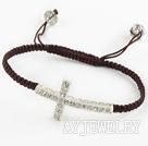 水钻手链 十字架编织款