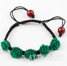 绿色花朵松石手链