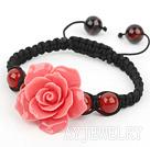粉红色大花朵松石手链