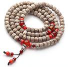 星月菩提多圈佛珠手链  配珊瑚红玛瑙