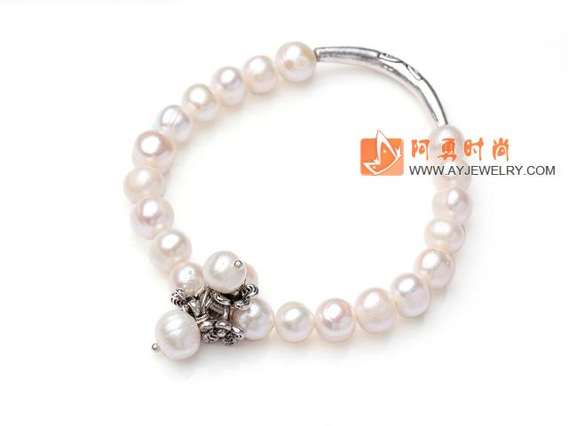 白珍珠弹力手环