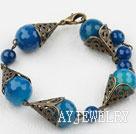 复古蓝玛瑙手链