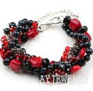珍珠水晶珊瑚手链
