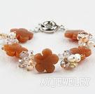 珍珠水晶黄东陵玉手链