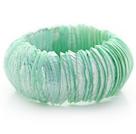 薄荷绿马蹄螺中粗贝壳手环手链 手排款