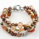 珍珠玛瑙白珊瑚手链