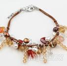 珍珠水晶玛瑙手链 线绳charm款