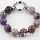 切面紫晶花手链