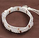 白水晶两圈绕圈手链