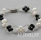 白珍珠水晶手链