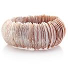 肉粉色马蹄螺中粗贝壳手环手链 手排款