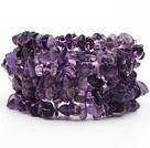 异形圆角紫水晶手环