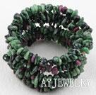异形圆角红绿宝手环