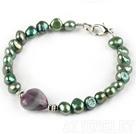 绿色珍珠萤石手链