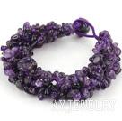 紫水晶编织手链 多股扭扭款