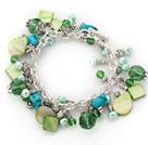 绿珍珠贝壳松石手链