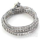 灰色水晶编织手链