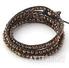 金色水晶编织手链