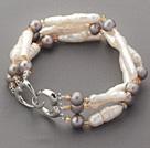 异形珍珠水晶手链