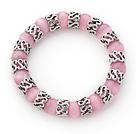 粉色猫眼石手链 单圈圆珠弹力线款